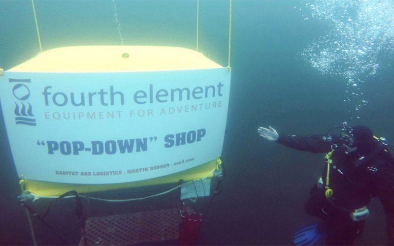 日本初!水中ダイビングショップが2日間限定オープン!