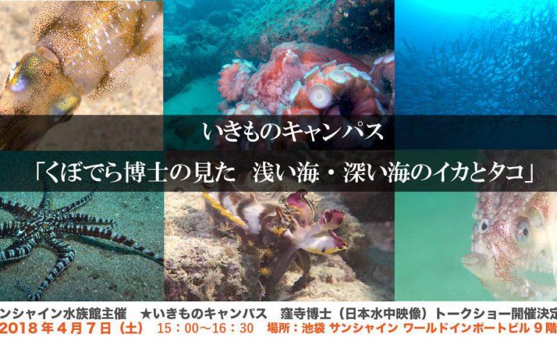 サンシャイン水族館で窪寺恒己博士トークショー